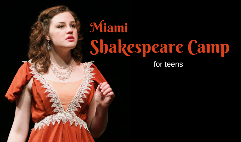 Little Revolt's Miami Shakespeare Thrater Simmer Camp for Teens