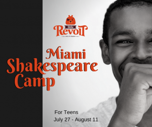Summer Shakespeare Camp for Teens in Miami