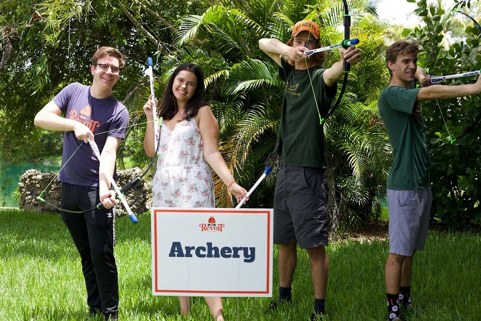 Little Revolt Family Shakespeare Fest child archery image medium