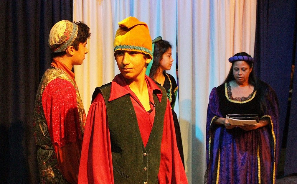 Little Revolt theater Shakespeare comedy of errors students on stage image