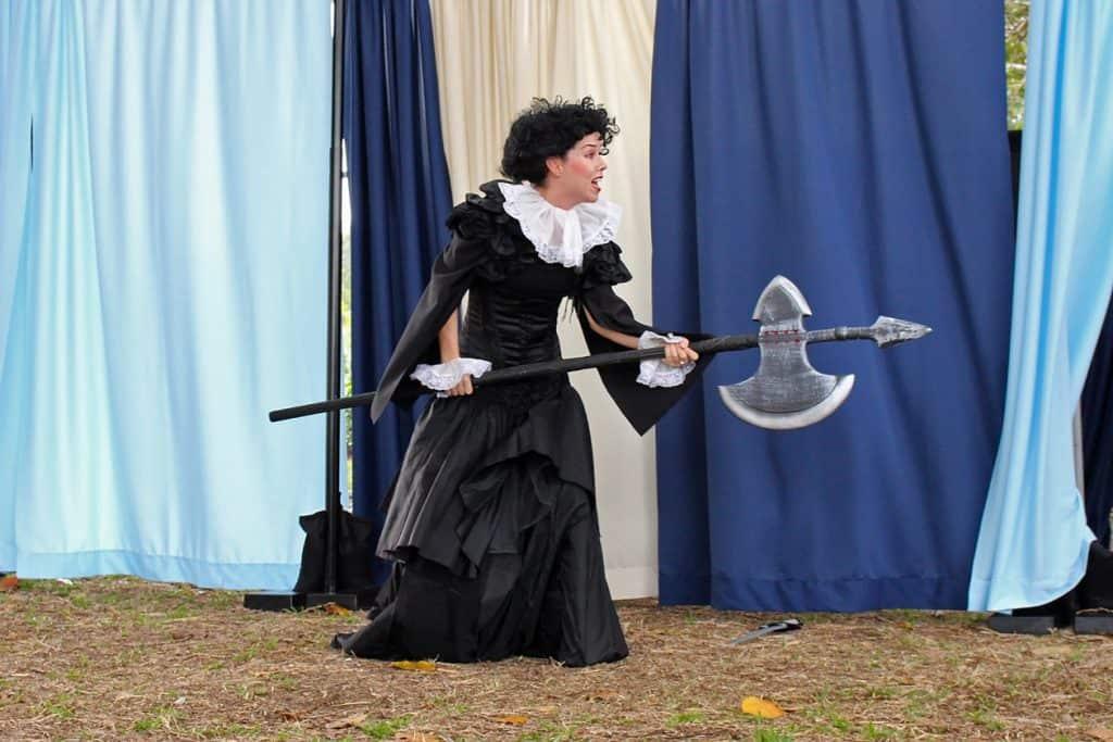 Little Rveolt Twelfth Night Shakespeare Olivia with axe